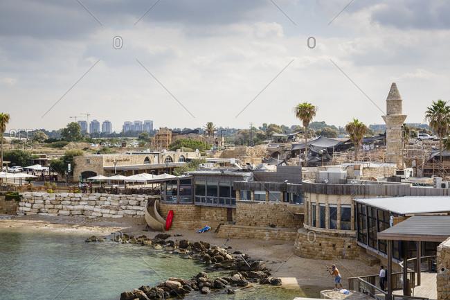 October 24, 2017: The old port, Caesarea, Israel.