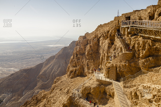 October 26, 2017: Masada fortress at the edge of the Judean Desert, Israel.