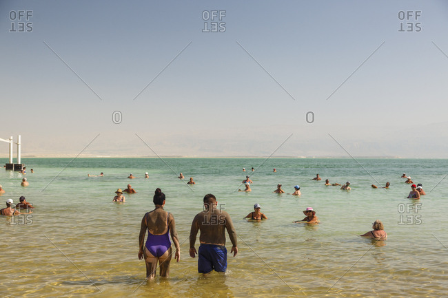 October 26, 2017: Dead Sea, Ein Bokek, Israel.