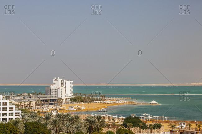 October 26, 2017: Hotels by the Dead Sea, Ein Bokek, Israel.