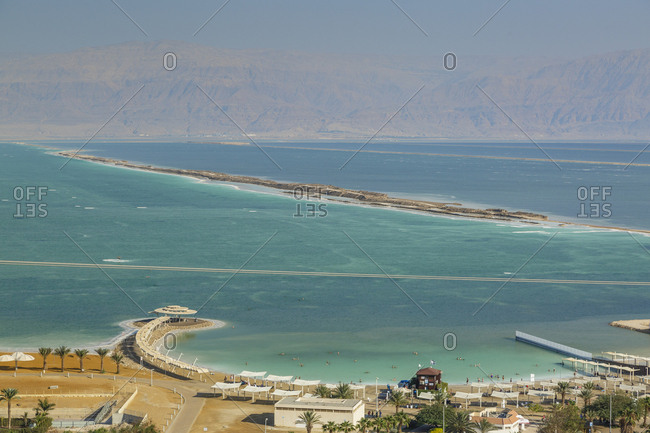 Hotels by the Dead Sea, Ein Bokek, Israel.