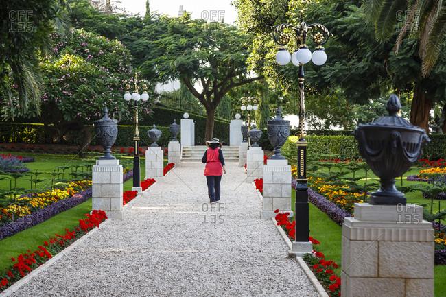The Bahai Gardens, Haifa, Israel.