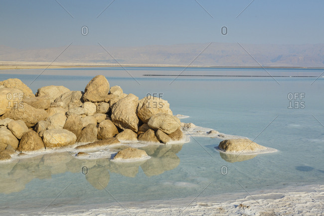 Dead Sea, Ein Bokek, Israel.