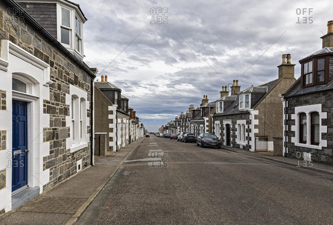 UK- Scotland- Inverness- Moray- Portknockie- townscape