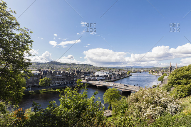 UK- Scotland- Inverness- cityscape with River Ness