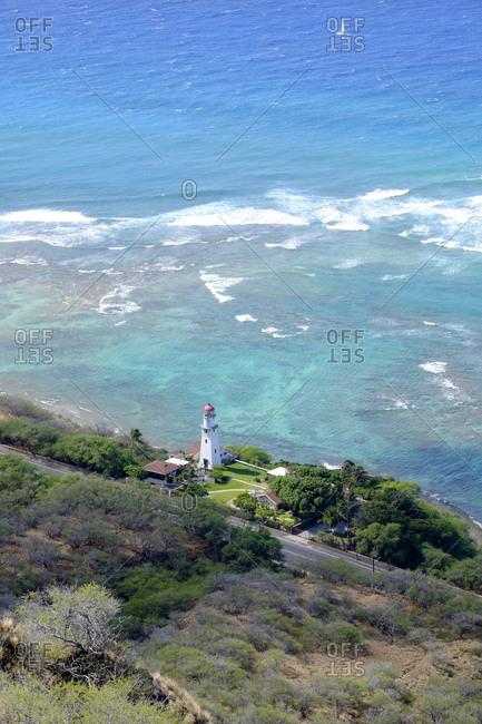 USA- Hawaii- Honolulu- lighthouse as seen from Diamond Head