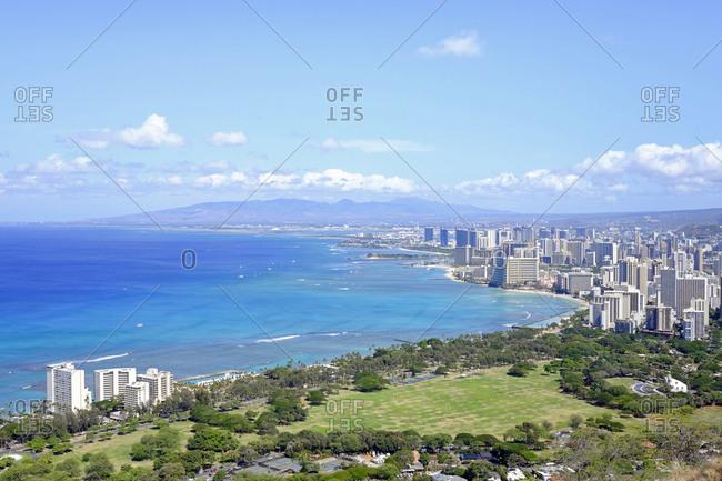USA- Hawaii- Honolulu cityscape as seen from Diamond Head