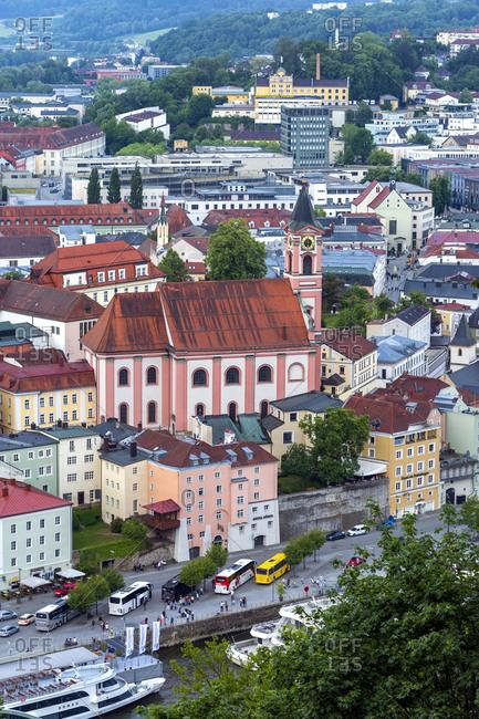 Germany- Bavaria- Passau- cityscape with Parish Church St. Paul