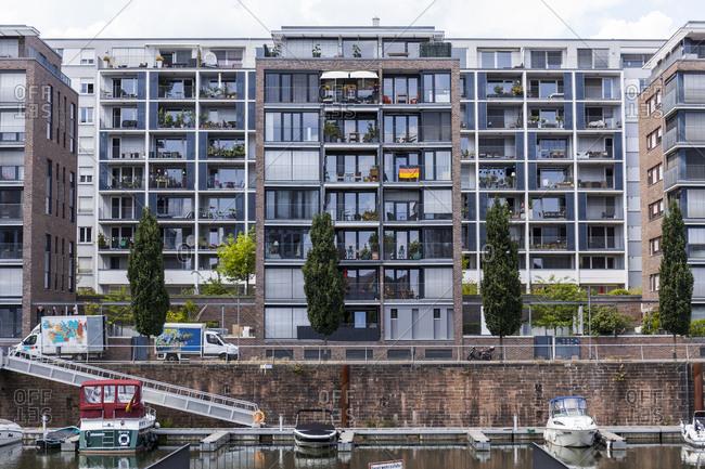 Germany- Hesse- Frankfurt- Westhafen- modern residential houses