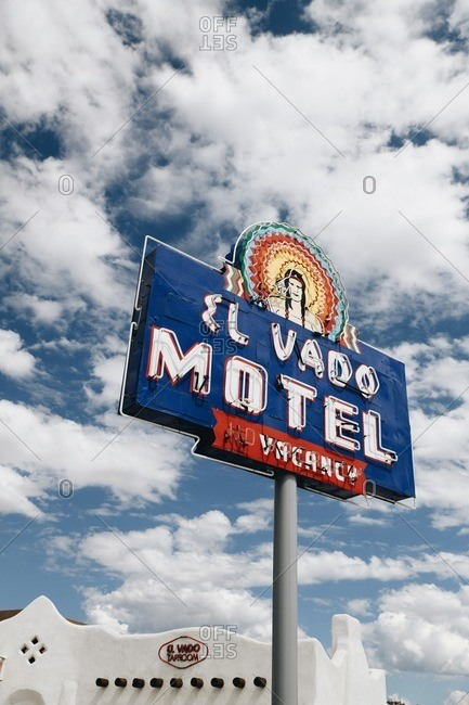 Albuquerque, New Mexico, USA - September 16, 2018: Vintage sign in front of the El Vado Motel and Taproom