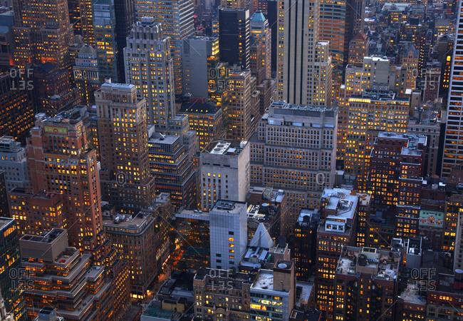 Midtown Manhattan in the evening