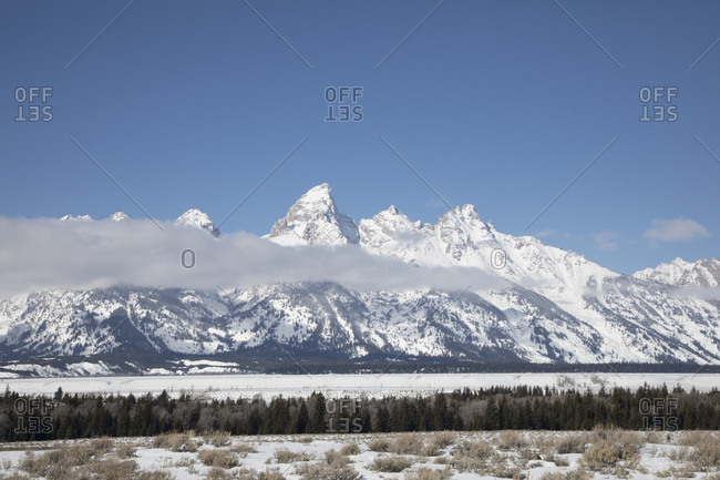 Winter Scene in Valley of Teton National Park