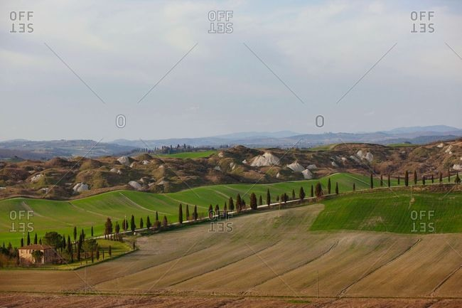Landscape of the Tuscany countryside, Italy