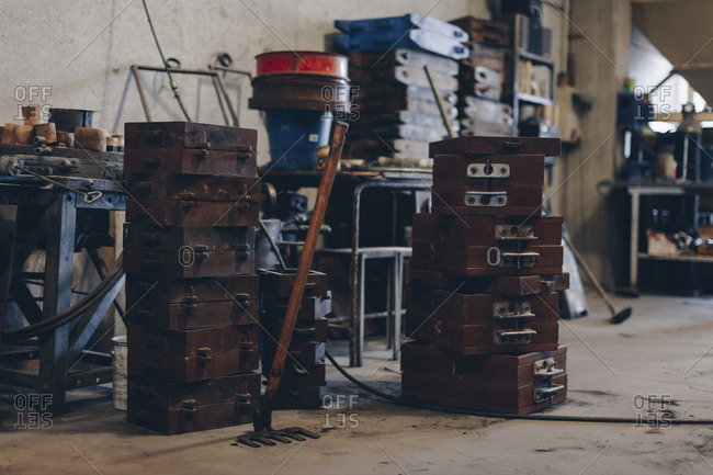 Molds in a foundry