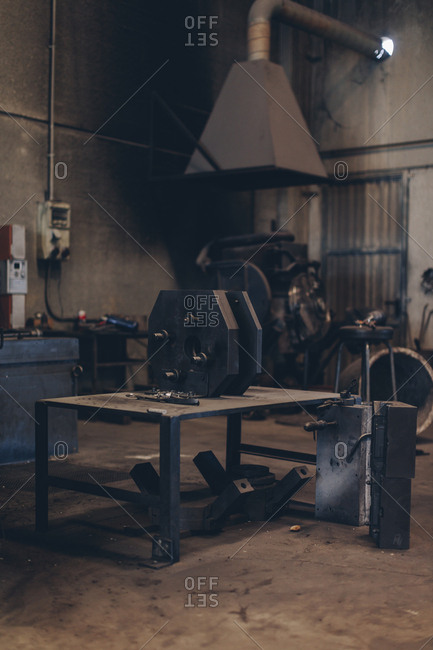 Workbench in a foundry