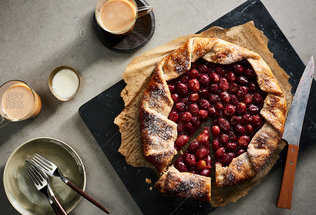 Grape galette from the Offset Collection
