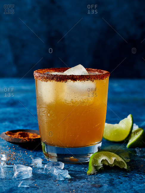 Michelada shrum cocktail