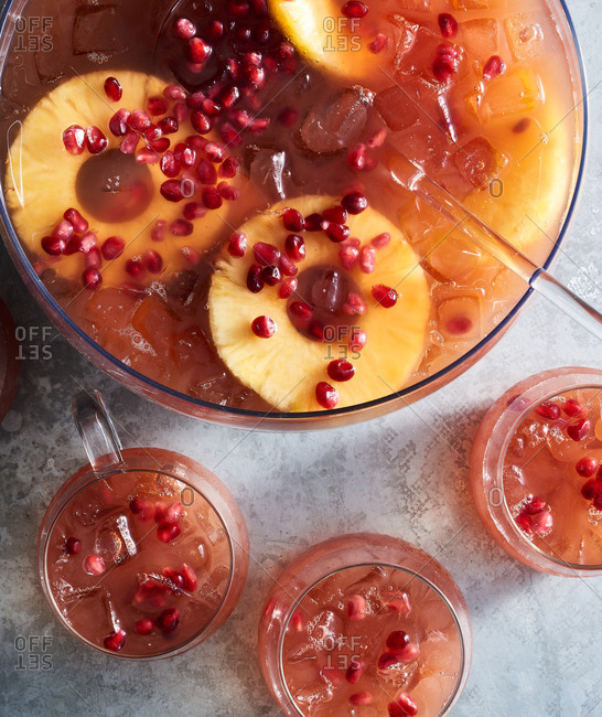 Pomegranate kombucha punch