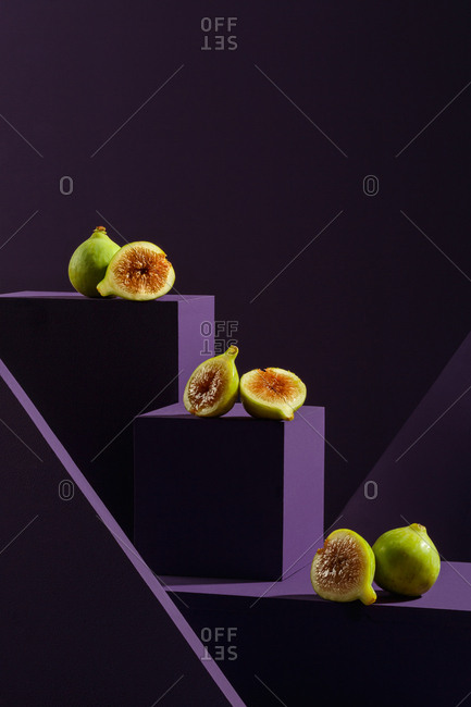 Figs on purple cubes