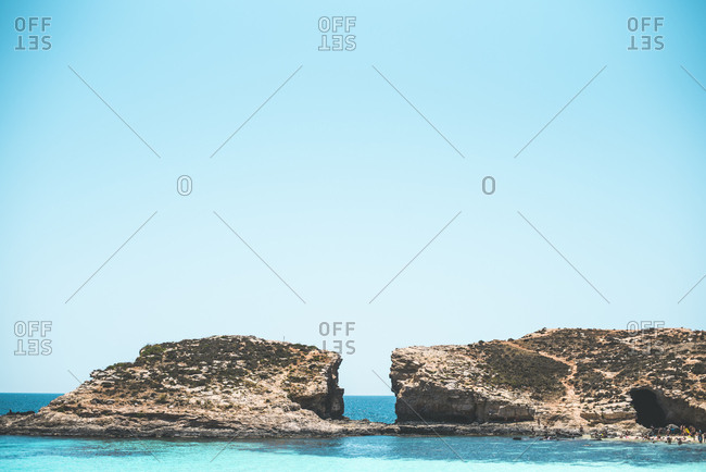 Malta, Rocks at Comino beach