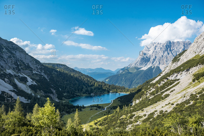 Austria, Tyrol, Lake Seebensee in summer