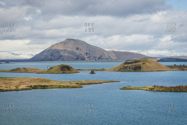 Iceland, pseudocrater in lake Myvatn
