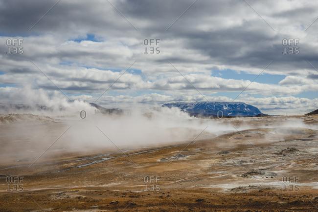 Iceland, Myvatn, Namaskard, geothermal area