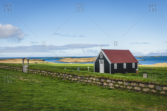 Iceland, Snaefellsnes, Church Bjarnarhoefn