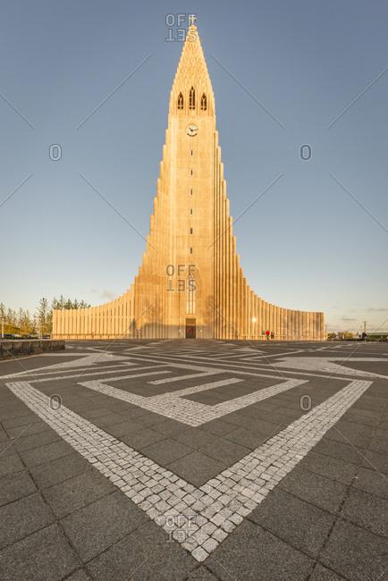 Iceland, Reykjavik - June 2, 2018: Hallgrimskirkja Church