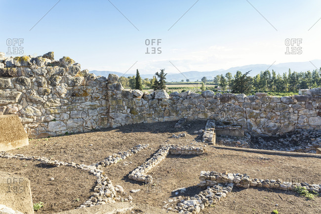 Greece, Peloponnese, Argolis, Tiryns, archaeological site,