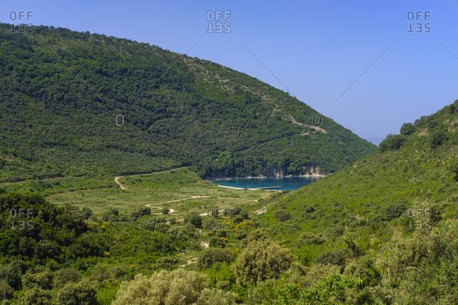 Albania, Vlore County, Lukova, Albanian Riviera, Kakome bay