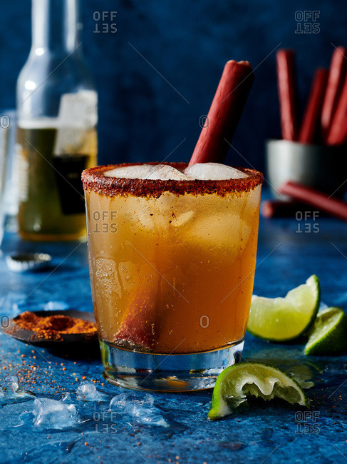 Michelada shrub cocktail
