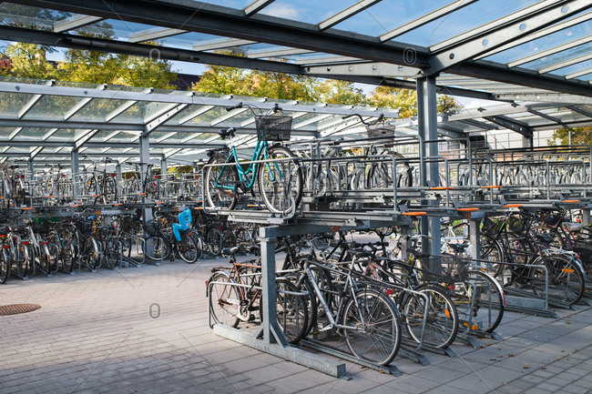 10/1/18: Bicycle parking structure in Sweden
