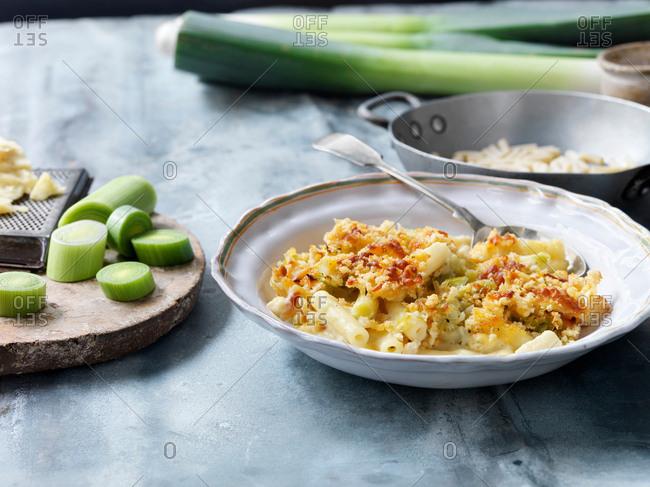 Vegetarian macaroni cheese