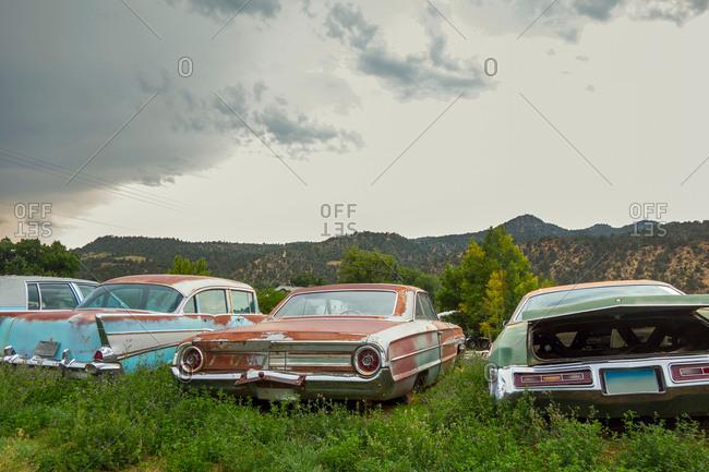 Utah USA - September 12, 2018: Vintage car graveyard