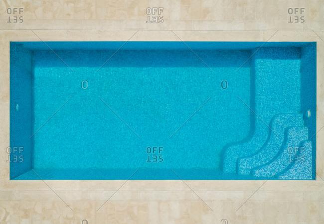 Aerila abstract view of swimming pool in Sumartin, Brac island, Croatia