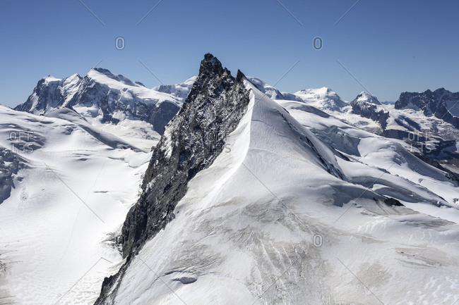 Ridge to the summit, Swiss alps,  Switzerland