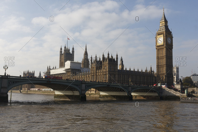 London, Great Britain - January 24, 2018: All sites of Big Ben - tower, Tower, Big Ben, London, Great Britain
