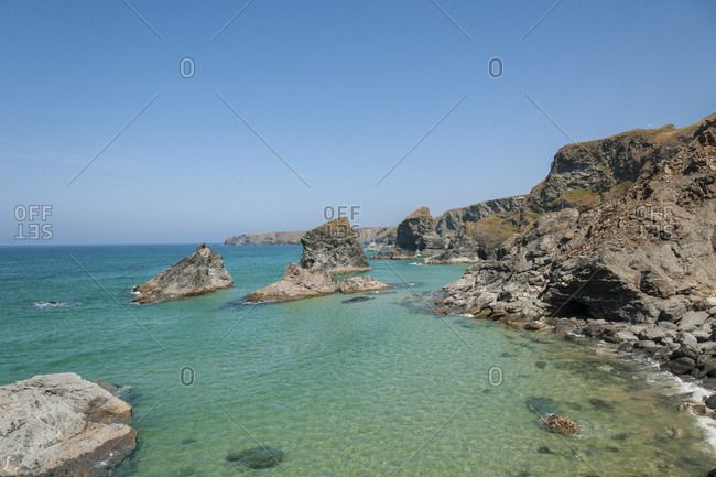 United Kingdom, England, Cornwall, rock formations at Carnewas and Bedruthan Steps