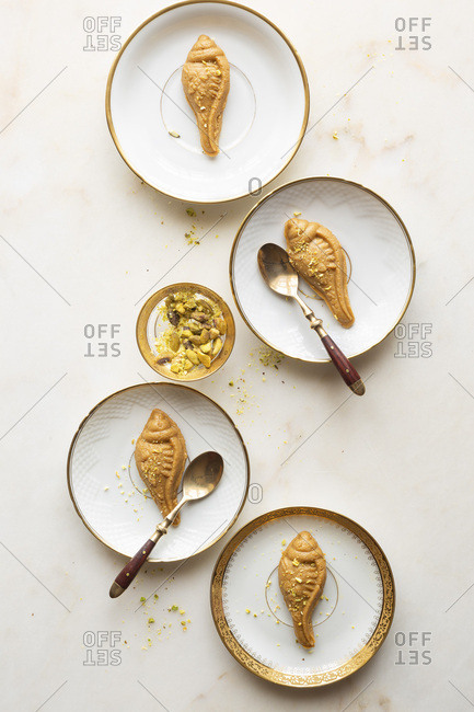 A plate of gluten free and refined sugar free sweet Indian desserts