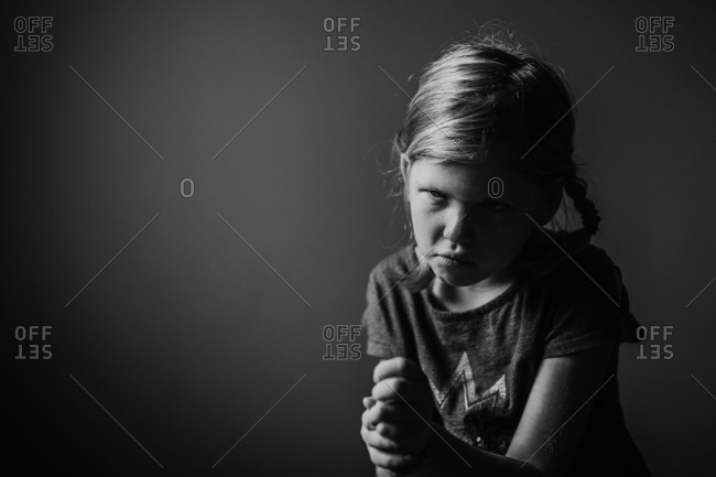 Little girl looking annoyed - from the Offset Collection