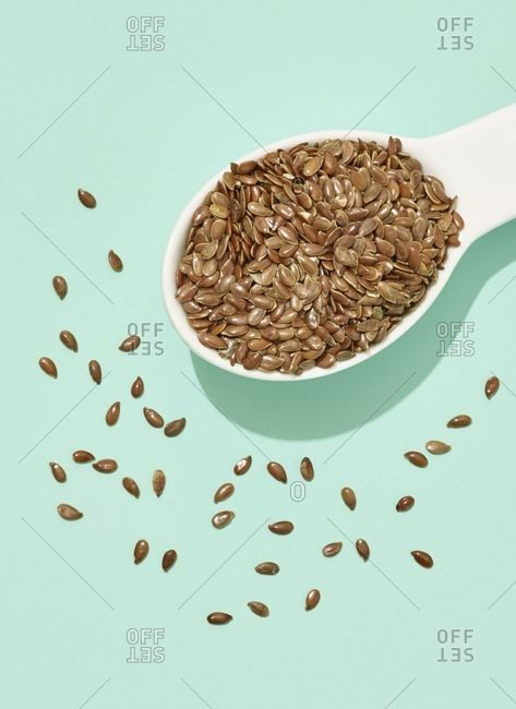 Spoon full of small seeds