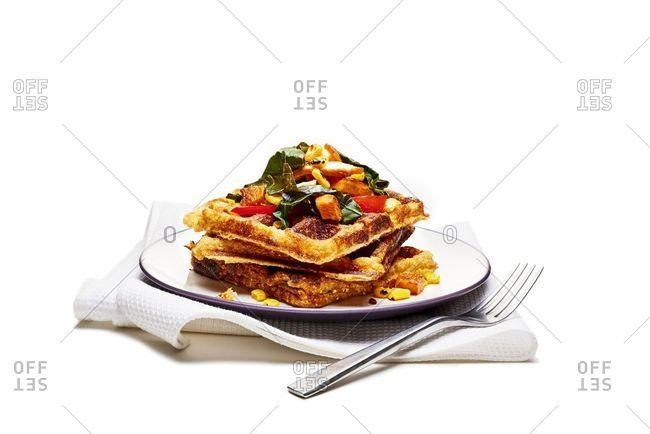 Waffle dish