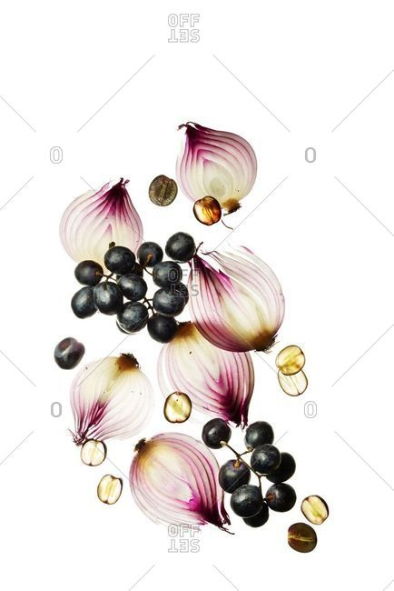 Onion and grapes