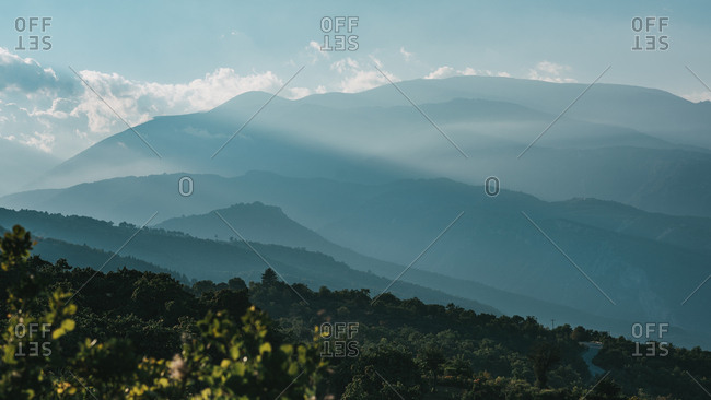 Beautiful layers of Mount Olympus in Pieria Greece