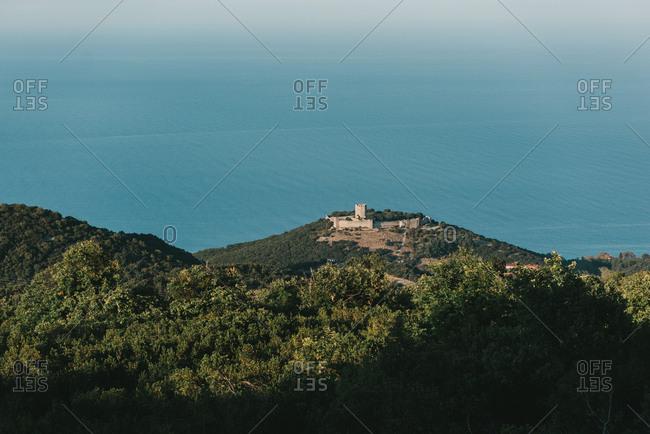 Wonderful view of the castle in Pieria Greece