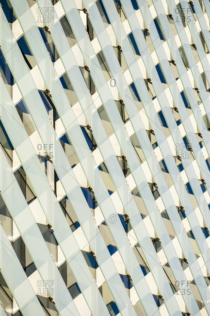 Contemporary architecture building with repetition glass pattern.