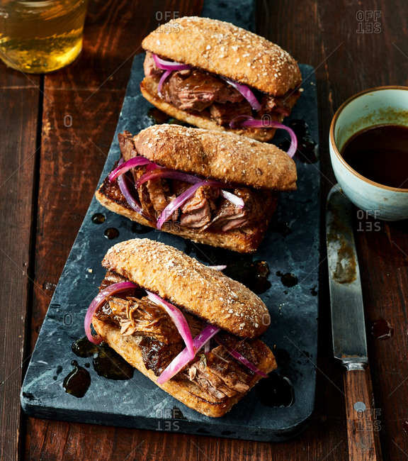 Flank Steak Au Jus Sandwiches