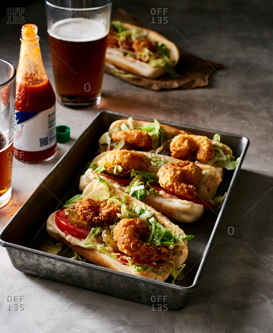 Fried Shrimp PoBoys - Offset Collection