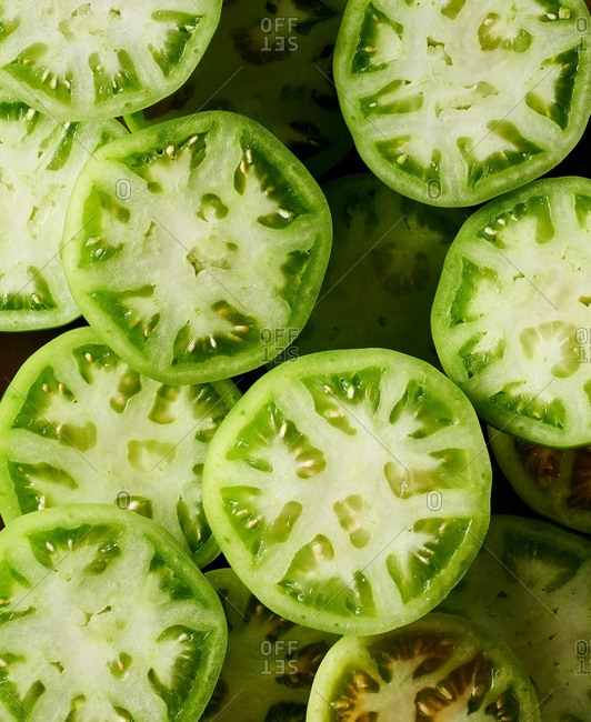 Green Tomatoes from the Offset Collection